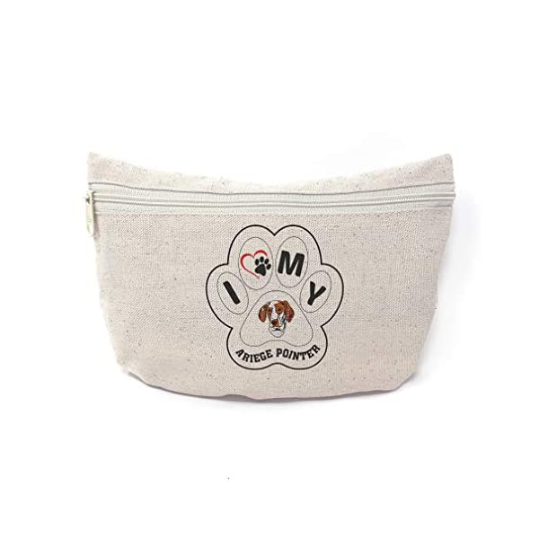 Custom Canvas Makeup Bag I Paw My Ariege Pointer Dog School Supplies Pencil Tote Pouch 9x6 Inches Natural Design Only 1