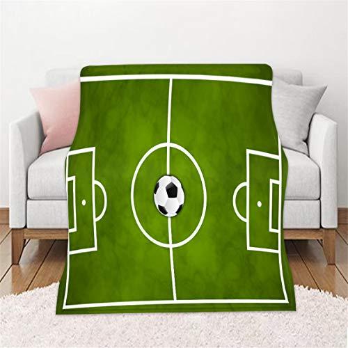 Leichte Flanell Decke, Morbuy Kuscheldecke hochwertige Flauschige Gewichtsdecke Feinste Tagesdecke Wohndecke Mikrofaserdecke Couch-Decke Reisedecke (150x100cm,Fußball)