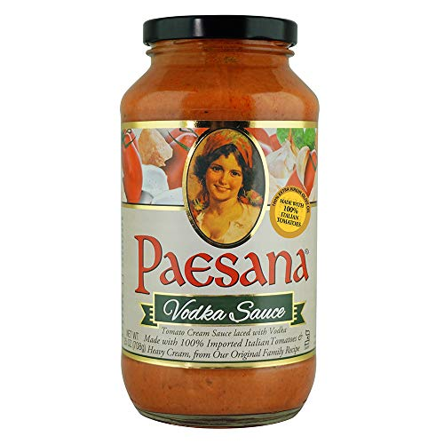 Paesana Traditional Vodka Pasta Sauce — Gluten Free, and made with 100% Imported Italian Tomatoes - Packed in the USA, 25 oz (2 Pack) (1)