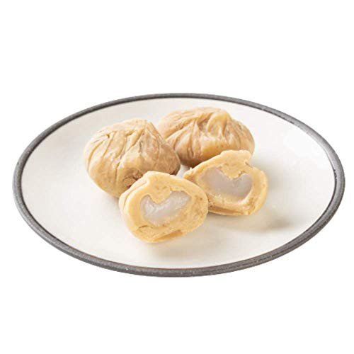 新杵堂 羽二重餅入り栗きんとん 6個 | ギフト 贈り物 新潟県北越後産の餅米から作った白玉粉 観光地応援 | 上品で斬新な栗きんとん