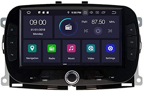 FACAIA Reproductor de DVD para automóvil GPS Unidad Principal estéreo Navi Radio Multimedia WiFi Compatible con Fiat 500 2016 2017 2018 2019 Soporte Control del Volante