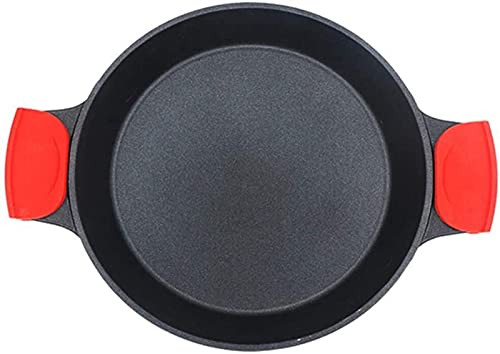 Sartén Antiadherente Sartén, Utensilios de Cocina, aleación de Aluminio Antiadherente Las Asas Dobles Resistentes se Pueden Utilizar con Todas Las Estufas, incluida la Cocina de inducción
