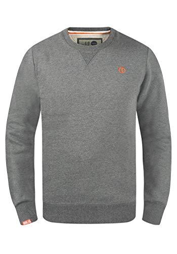 !Solid Benn O-Neck Herren Sweatshirt Pullover Pulli Mit Rundhalsausschnitt, Größe:L, Farbe:Grey Melange (8236)