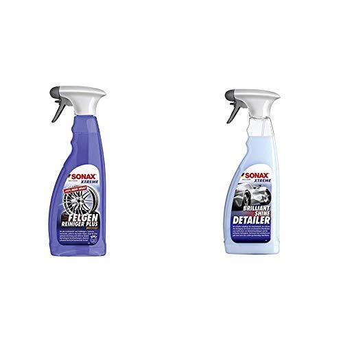 SONAX XTREME Felgenreiniger PLUS (750 ml) - effiziente Reinigung aller Leichtmetall- und Stahlfelgen sowie lackierte, verchromte und polierte Felgen   Art-Nr. 02304000 & 287400 Lackpflege