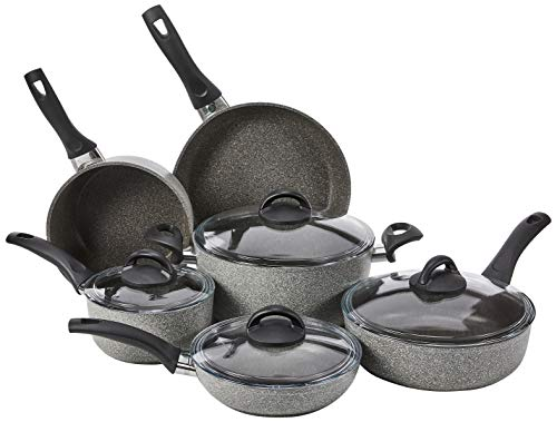 Ballarini Parma Forged Aluminum Nonstick Cookware Set,...