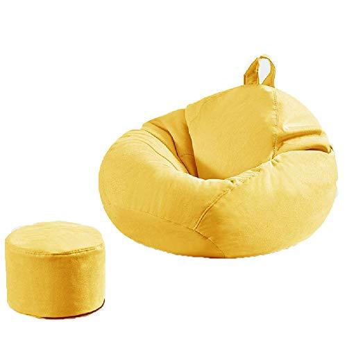 PAPAO Bolsa Perezoso sofá Perezoso Sofá Sofá-Sack Frijol Silla anfibia Frijol Resistentes Bolsas para Uso Interior y Exterior, Ideal para Jugar y Jardín,Yellow