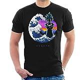 Cloud City 7 Dragon Ball Z Tsunami Wave Vegeta - Camiseta para Hombre Negro Negro (M