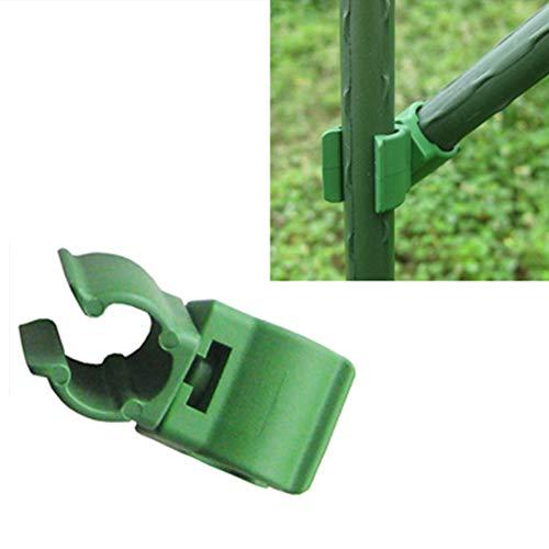 GRANDLIN 36 Stück Heimverbinder Klammern Teile Gewächshaus Folienschnallen Universal Clip Garten Drehbarer Verschluss Sonnenschutz Netz Werkzeuge, grün, 8mm(0.31in)
