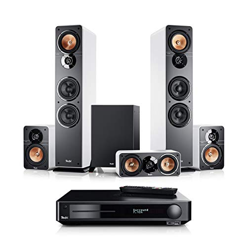 Teufel Ultima 40 Surround Impaq 5.1-Set Weiß Heimkino Lautsprecher 5.1 Soundanlage Kino Raumklang Surround Subwoofer Movie High-End HiFi Speaker