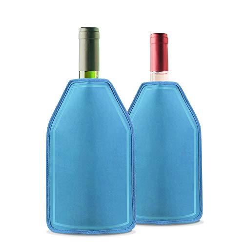 2 Pack Funda Enfriadora de Vino con Gel - Efecto de Enfriamiento de Larga Duración - Perfecto para Enfriar Vino, Champán, Picnics, Fiestas, Barbacoa, Al Aire Libre.