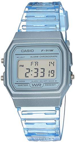 Casio Quartz Watch with Resin Strap, Blue, 20 (Model: F-91WS-2CF)