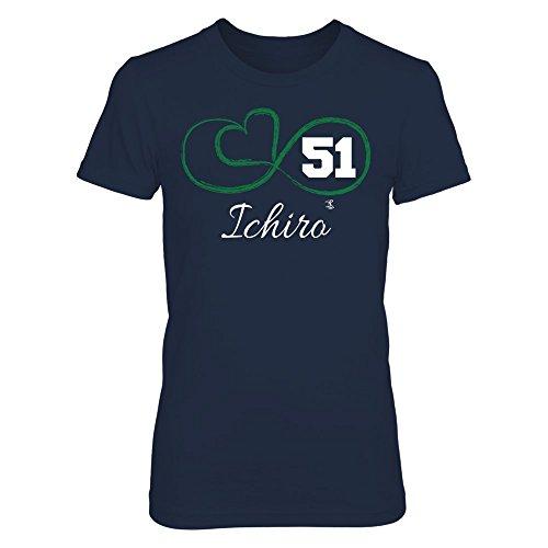 FanPrint Ichiro Suzuki T-Shirt - Infinite Heart - Women