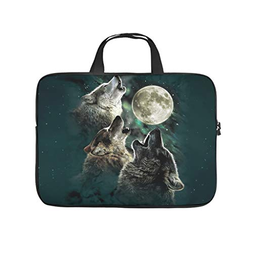 Facbalaign Laptop Bag Animal Wolf Computer Handbag Durable with Handle