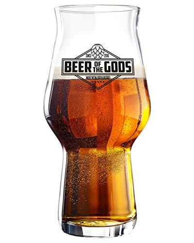 WACKEN BRAUEREI 1 Stück Stout Craft Beer Glas | Beer of The Gods | spülmaschinenfest 300ml - 500ml | Kraft Bier Gläser für IPA - Pale Ale | 1 Craft Beer Glasses Kit | Craftbier Kraftbeer Biergläser