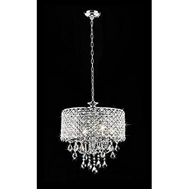 Whse of Tiffany RL5633 Deluxe Crystal Chandelier, 9  x 17  x 17