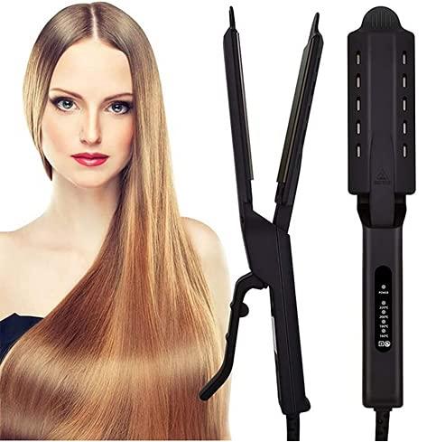 Plancha de pelo profesional, de cerámica, turmalina, iónica, alisado y rizos con cuatro temperaturas ajustables, herramientas de peinado para todo tipo de cabello