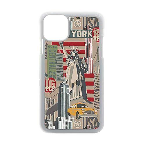 no-branded para Los Hombres Hermosa Carcasa De Pc Impresión Eiffer Tower Stamp 1 Compatible En 5.4 Inch iPhone 12 Mini Choose Design 135-5