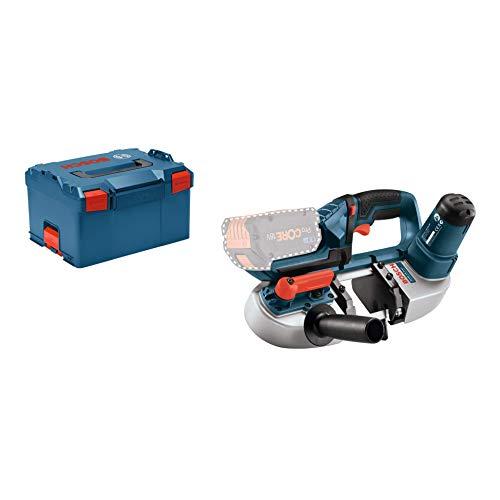 Bosch Professional GCB 18VLI Sierra de cinta sin batería en LBOXX 18 V Negro Azul Rojo Plata