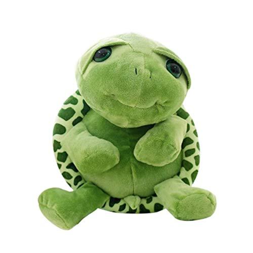 TOYANDONA Morbido Peluche Tartaruga di Mare Animali di Peluche Peluche Kawaii Grandi Occhi Pancia Tartaruga Bambola Divano Cuscino per Bambini Regalo Fidanzata 30 Cm (Verde)