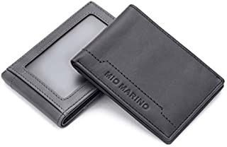 RFID Blocking Wallet With ID Window, Bifold Slim Front Pocket Wallets for men, Genuine Leather In A Gift Box