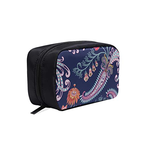 Casual Woman Bag Beautiful Colorful Dot Flowers Painting Makeup Travel Toiletry Bag Cosmetic Overnight Bag Cosmetic Bag For Girls Cosmetic Bags Multifunction Case Cosmetic Bags Women