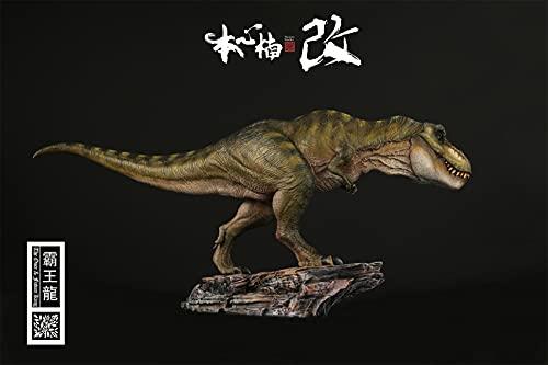 【予約発売】Nanmu 本心楠改 1/35 サイズ ティラノサウルス レックス King T-REX 大きい 肉食 恐竜 リアル フィギュア PVC プラモデル おもちゃ 模型 プレゼント 43.5cm級 オリジナル 塗装済 完成品 台座付き (永遠の王--DX版(台座と人形付き))