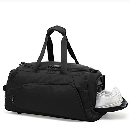 Travel Duffel Bag for Men Mens Women Oxford Cloth Travel Waterproof Luggage Gym Sport Shoulder Handbag Fits 15.6inch Laptop (Color : Black, Size : 54x26x28cm)