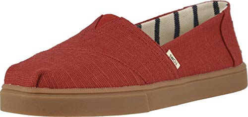TOMS Womens Alpargata Cupsole Casual Flats Shoes, Red, 8
