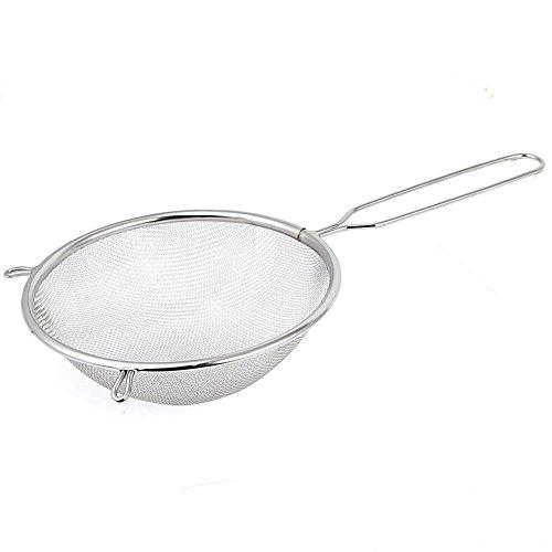 Baalaa Colador de harina de cocina tamiz de malla de aceite colador de alambre de 16 cm de diámetro