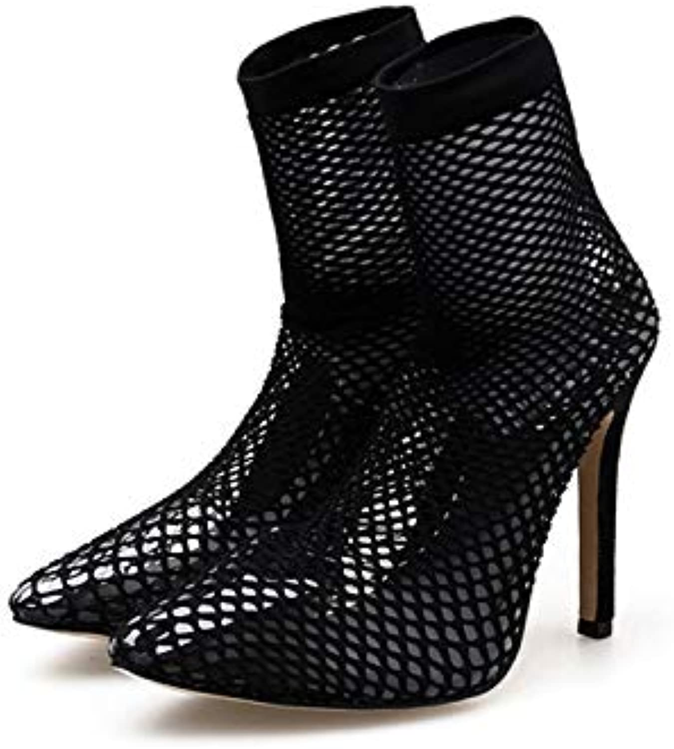 Fashion Women's Sandals, Ladies Prom Party Wedding Bridal Sandals shoes Leaking Toes Perfect Combination of Fishnet Socks and High Heels,40