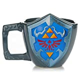 zelda coffee cup - Paladone The Legend of Zelda Hylian Shield Ceramic Coffee Mug - Collectors Edition Shield Shape Cup