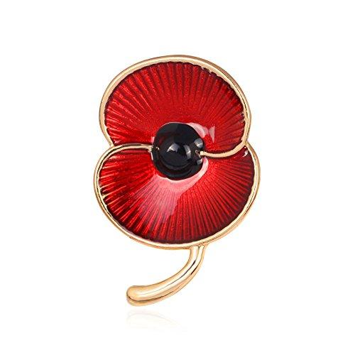 Nestdo Women's Brooches Jewellery Pins, British Kate Princess Memorial Rhinestone Brooch - Red