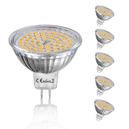 Bonlux MR16 GU5.3 GX5.3 LED Strahler Lampen 12V 4W Warmweiß 3000K Ersatz für 35W Halogen Lampen 350 Lumen 120°Abstrahlwinkel (6-Stück Nicht Dimmbar)