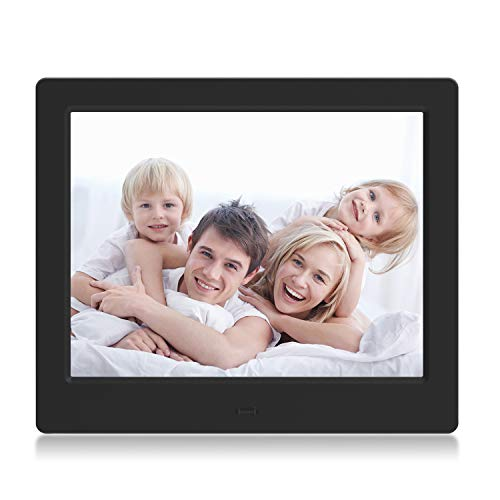 Digital Picture Frame 8 Inch Photo Slideshow Functions – VUCATIMES F8 XGA High Resolution LCD Screen Music and Video Play Calendar with Remote Control USB and SD Card Slots, Black Digital Frames Picture