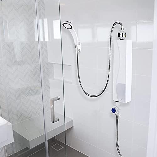 Aynefy Calentador de agua eléctrico, pequeño calentador de agua eléctrico instantáneo para cocina y baño, 220 V, 3000 W