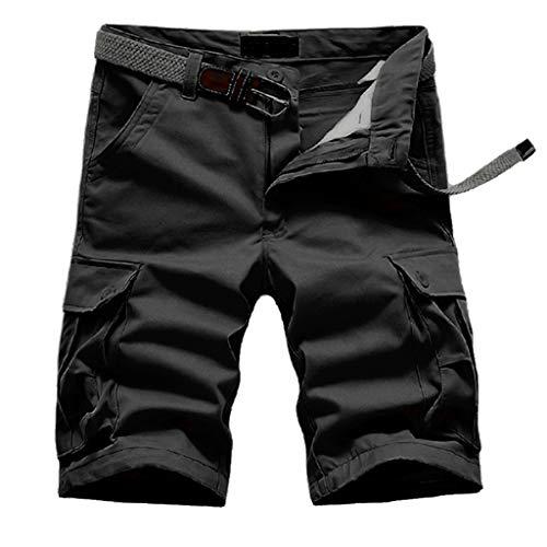 Shorts Homme Running,❤LANSKIRT Nouveau Short d'Été pour Hommes en Coton avec Plusieurs Poches Short d'Outillage Multi-Poches Pantalon De Jogging