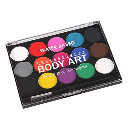 Gazechimp 15 Couleurs Palette Peinture Corporelle Scène Art Maquillage pour Visage et Corps