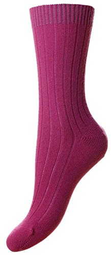 Damson Pink Tabitha Kaschmir Socken von Pantherella