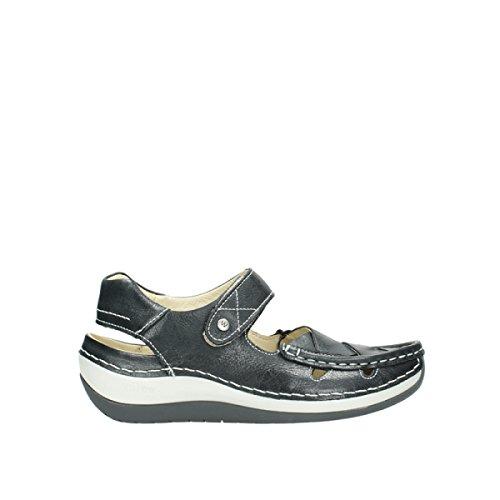 Wolky Comfort Mary Janes Venture - 30070 zwart leer - 36