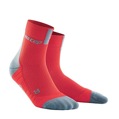 CEP – SHORT SOCKS 3.0 für Herren   Sportsocken für mehr Power und Ausdauer in lava / grey   Größe V