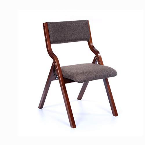 LJZslhei Stuhl Leisure Home Modern minimalistisch Esszimmerstuhl Schreibtisch Stuhl zurück Stuhl Klappstuhl Kaffee Kissen (Color : Brown)