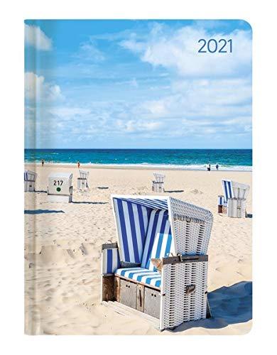 Ladytimer Beach 2021 - Strand - Taschenkalender A6 (11x15 cm) - Weekly - 192 Seiten - Notiz-Buch - Termin-Planer - Alpha Edition