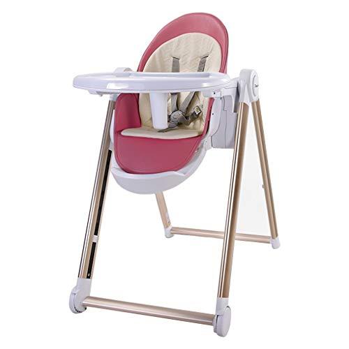 Ligstoel, baby eetkamer zitje kinderstoel multifunctionele draagbare hoge stoel baby, veranderbaar in junior stoel (roze-beige)