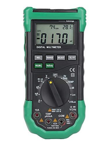No-branded Multímetro Digital MS8229 5 In1 Auto Range Multímetro Digital Multifunción Nivel de Sonido Temperatura Humedad Probador Medidor ZXLLNEUR