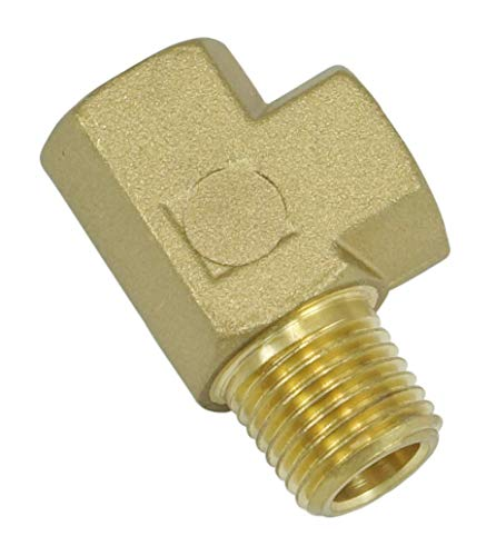 NIGO Industrial Co. Brass Pipe Fitting, Forged Brass Tee, 3-Way, NPT Male X NPT Female X NPT Female (1, 1/4