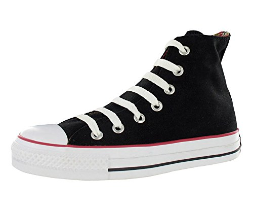 Converse Mens Chuck Taylor All Star Canvas High Top Sneakers Black 5 Medium (D)
