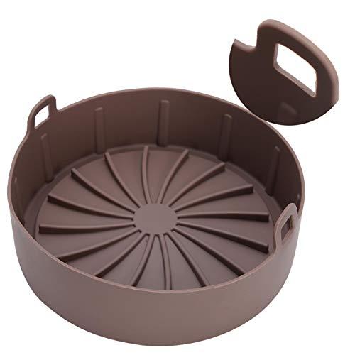 Jingyig Cesta de Vapor, Rejilla para vaporera Reutilizable de Silicona, Tortillas de Tartas de Queso multifuncionales exquisitas portátiles para Olla a presión Huevos al Vapor(Brown)