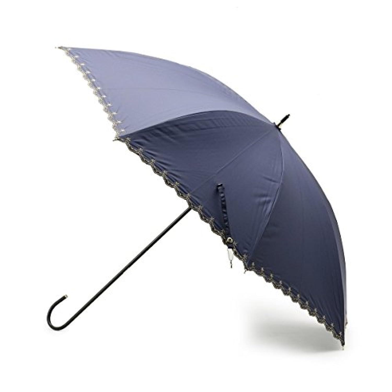 グローブ(grove) スター刺しゅうスカラップ長傘