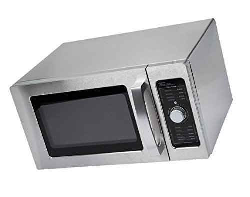 Special Offer Stainless Steel Commercial Microwave with Dial Control- 0.9 cu Ft - 120V, 1000W