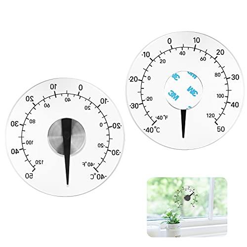 Termometro da Esterno 1Pz Termometro per Porte e Finestre Termometro da Esterno Trasparente per Rilevamento Della Temperatura Interna ed Esterna